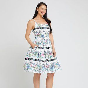 Retrospec'd Gigi Prima Ballerina Print Dress